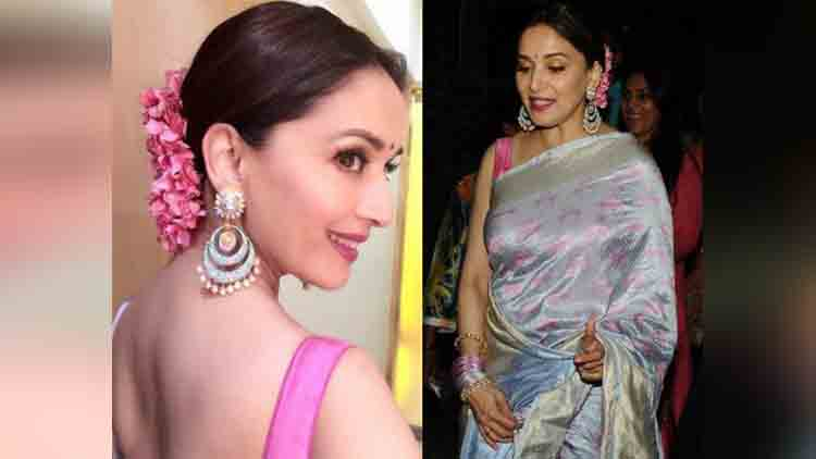Madhuri Dixit attends her manager Wedding and Look Stunning