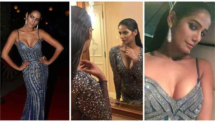 hot photos of poonam pandey in elle awards