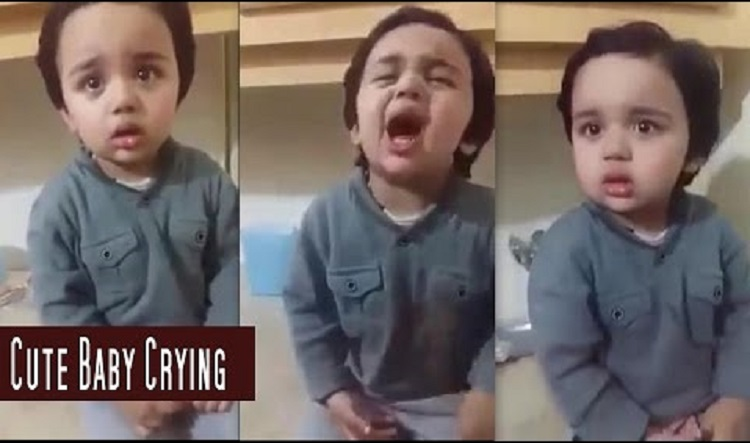 cutest pakistani baby crying