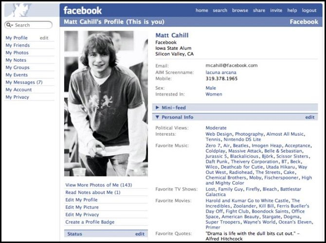 evolution of facebook