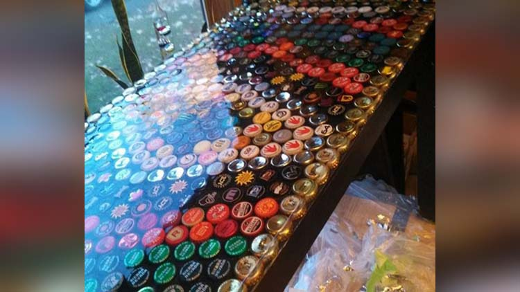 Man Collects Bottle Caps For 5 Years To Redo His Kitchen