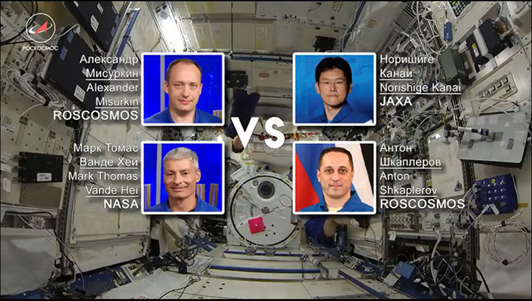 Watch: Astronauts played the first ever sport in space