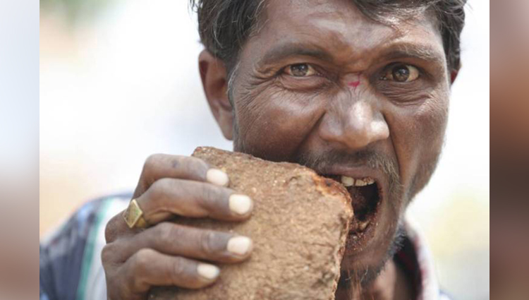 Strange Addiction Man Who Is Addicted To Eating Bricks Pakkirappa Hunagundi