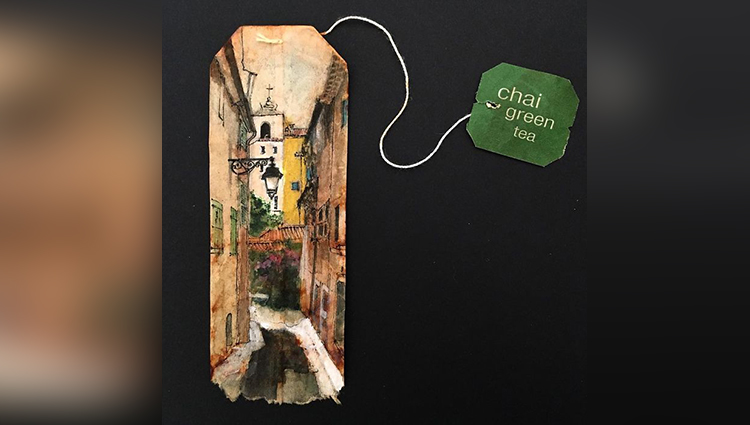 Artist Uses Tea Bags As Her Diary