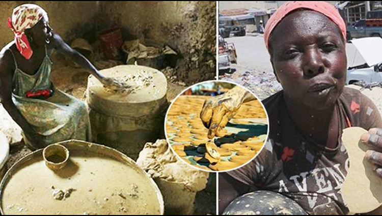 Haitians eat dirt cookies to survive