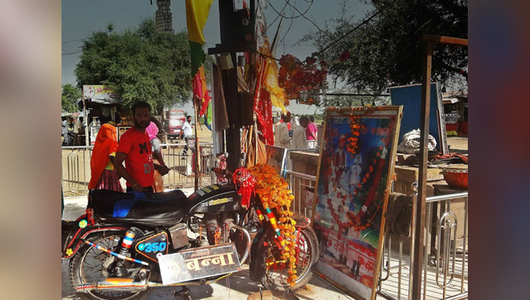 know about bullet bikes worship at rajasthan