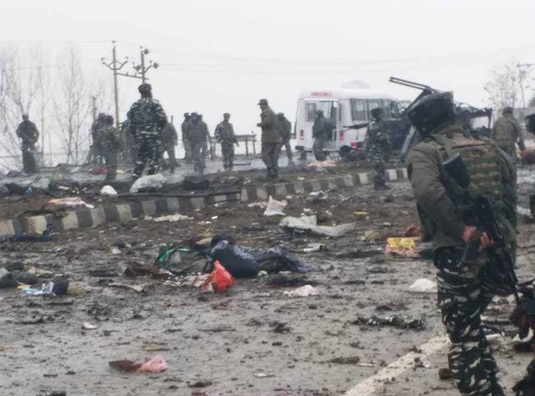 attack on crpf pulwama attack jammu kashmir