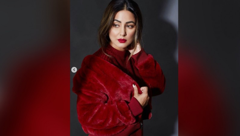 HINA KHAN IN RED OUTFIT VALENTINE DAY 2021