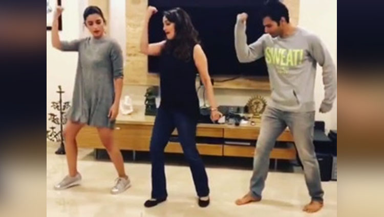 Varun and Alia danced on Tamma Tamma with Madhuri Dixit