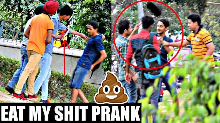 Eat My Shit GU KHA LO Prank in india prank gone wrong AVRprankTV