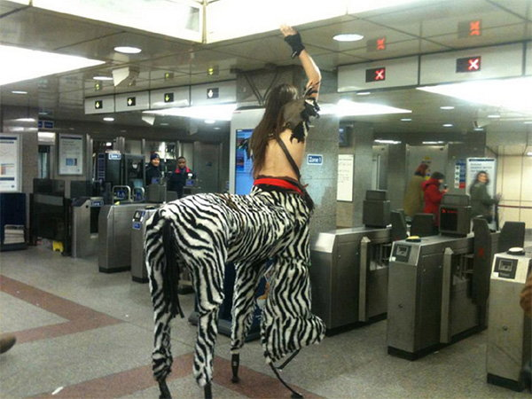 bizarre people at public transport