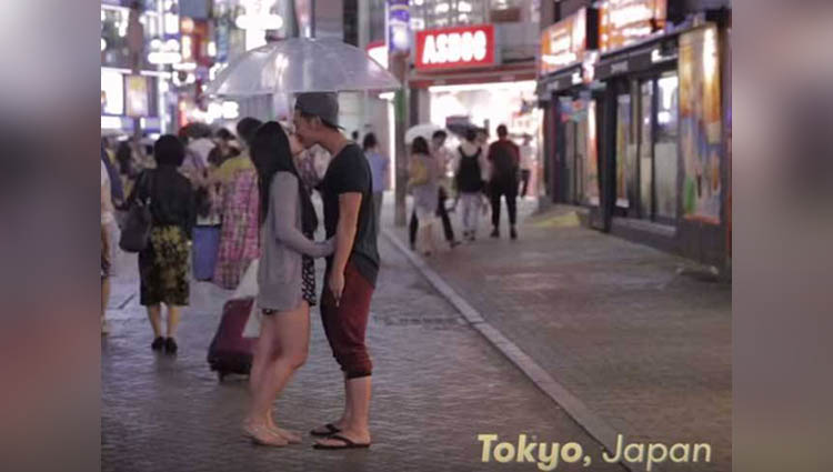 pictures of couples kissing in different parts of the world