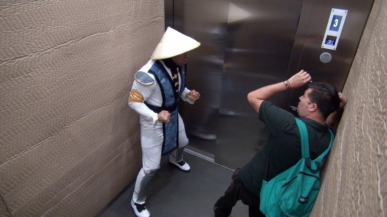 elevator prank video