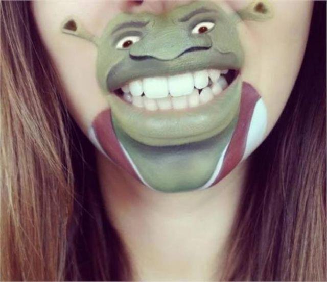 weird Art on lip