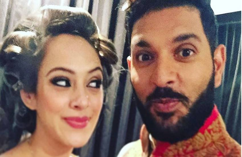 pictures viral from yuvraj and hazel wedding