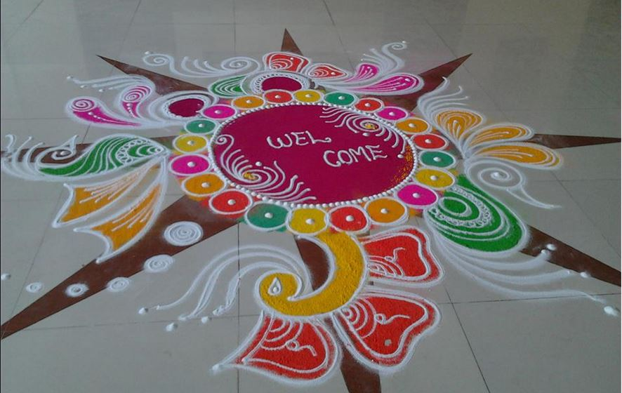Here you will find the most beautiful designs of Rangoli