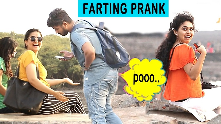 Farting on HOT GIRLS Prank