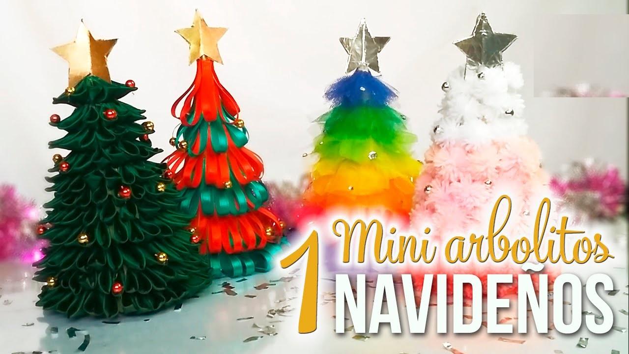 Mini christmas tree in home