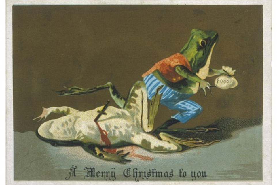 people sending these type of christmas cards in 19th century