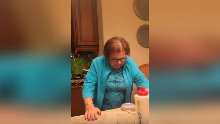 italian grandmother learning to use google home
