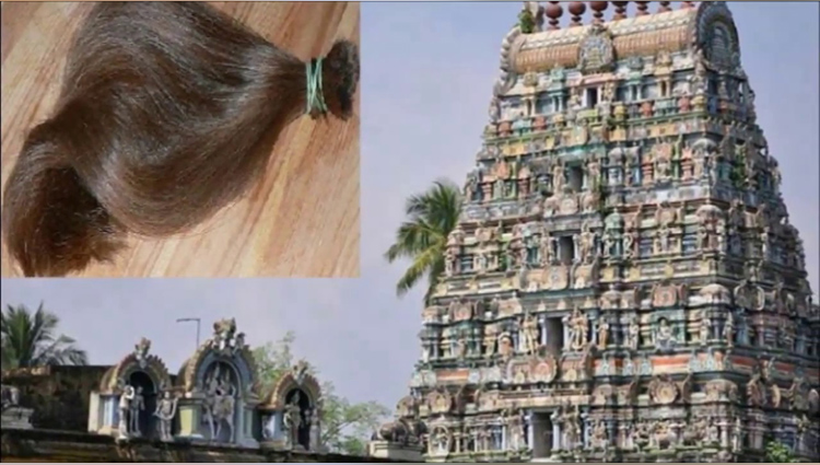 in this temple hairs of female automatically cut down