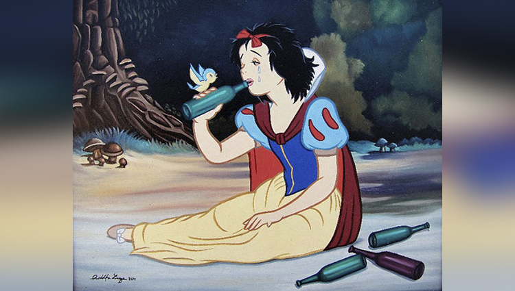 disney characters get reimagined in modern times