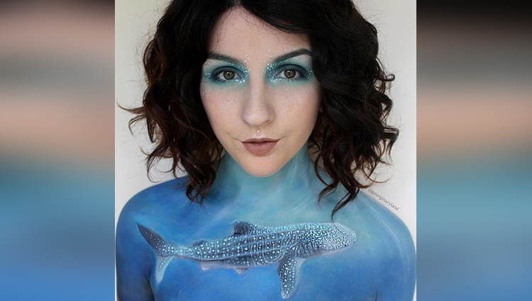 body paintings makeup artist georgina ryland