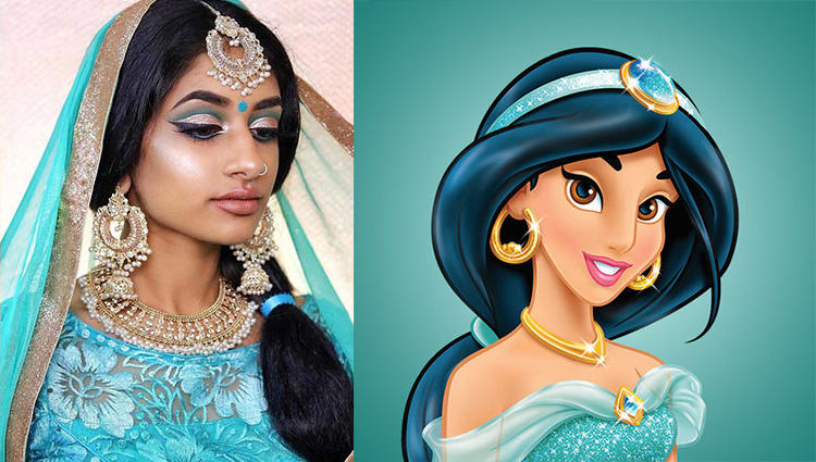 Model Shows How Indian Disney Princesses Would Look Like