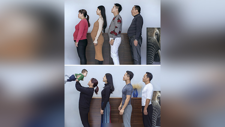 Chinese family show off their incredible weight loss
