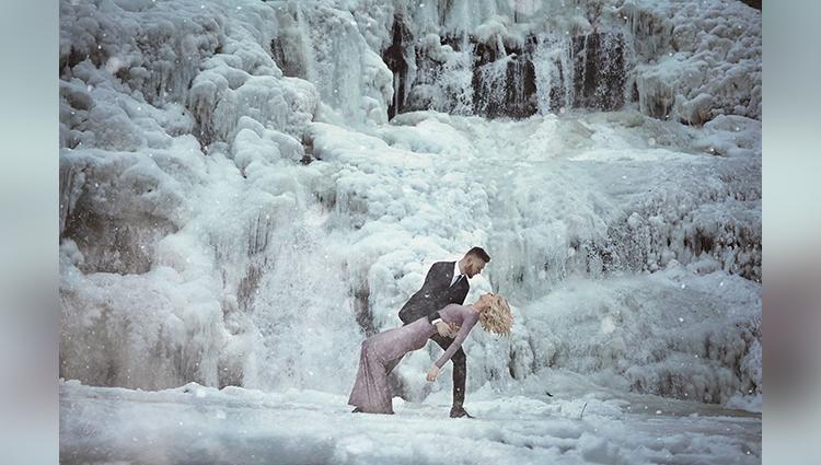engagement photos kellie elmore bald river falls