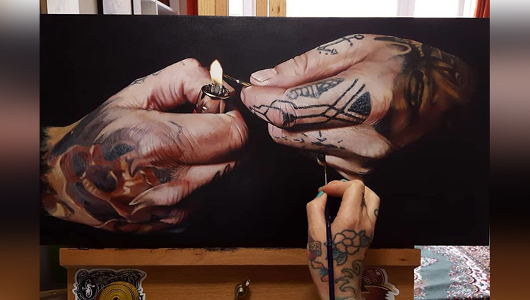 The Realistic Tattooed Paintings Of This Artist Will Impress You