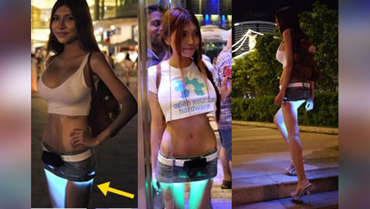 A DIY of underlit LED skirt