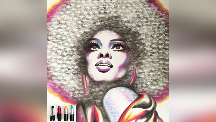 Marilyn Monroe Use hisLips And Lipsticks To Create These Paintings