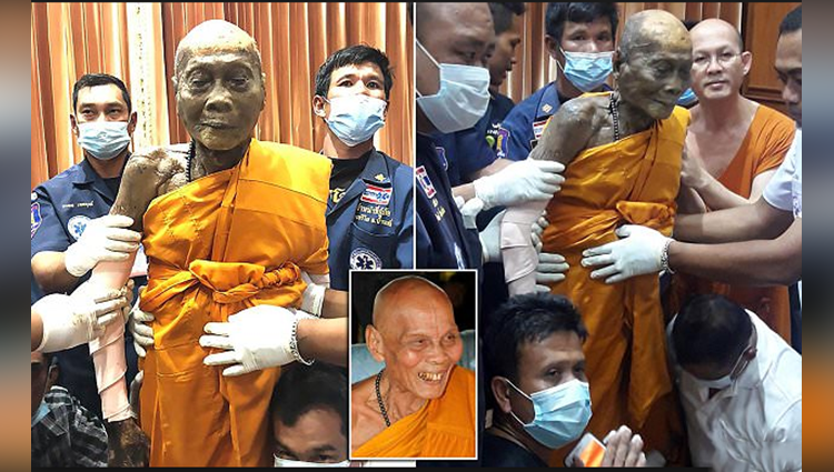 Devotees Shocked After They Exhumed Dead Body Of Buddhist Monk After2 Months