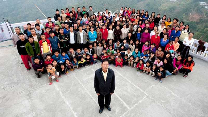 biggest family of india in mizoram
