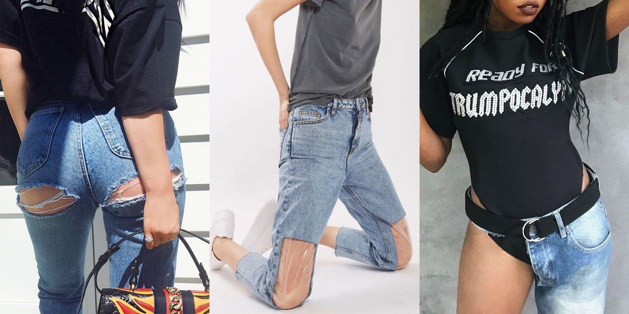 weird style jeans weird pattern jeans