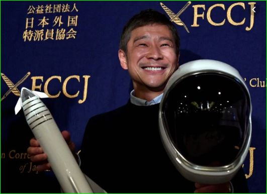 Yusaku Maezawa seeking life partner to fly to moon