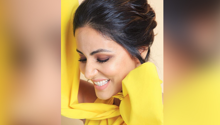 hina khan photos in yellow dress