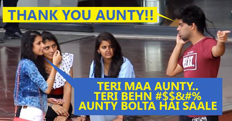 Calling Cute Girls 'AUNTY' Prank