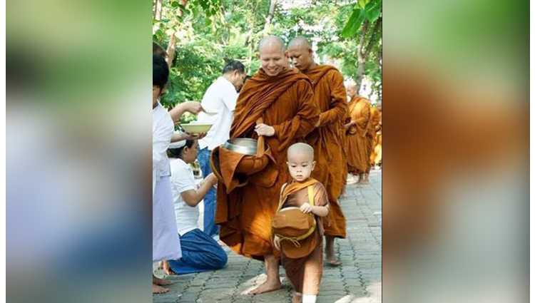 you may not have seen this supercute baby monk