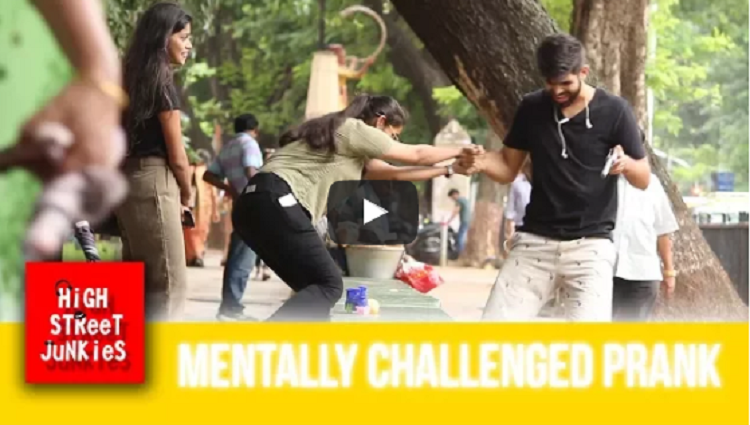 mentally challenged prank social experiment pranks in india with a message