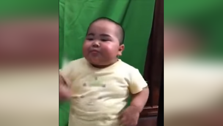 cute little fat boy dancing video