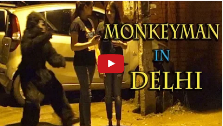 Monkeyman in Delhi NCR Captured on camera