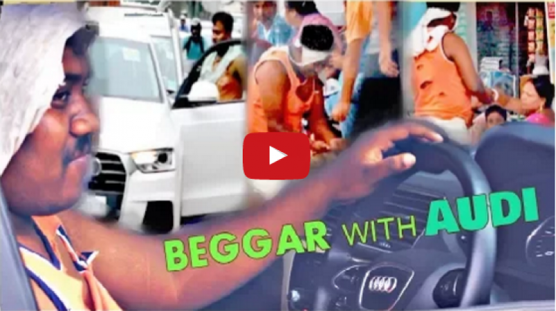 RICH BEGGAR with AUDI car Prank
