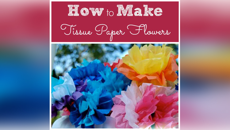 How to make a Tissue Paper Flower very easily Easy origami flowers for beginners making