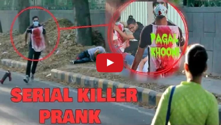 SERIAL KILLER On Delhi Roads SCARE Prank