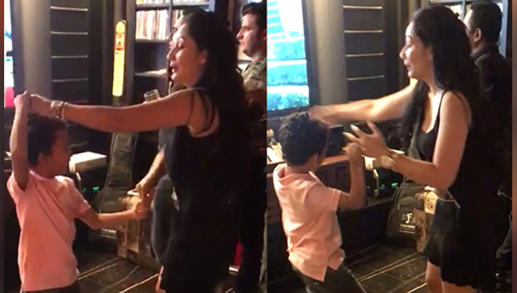 sanjay dutts wife maanayata celebrates her birthday by dancing on Despacito with son Shahraan!
