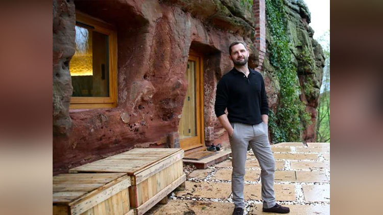 man transform cave into luxurious home