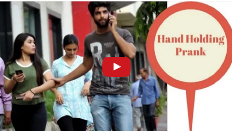 Holding People Hand Prank Pranks in INDIA