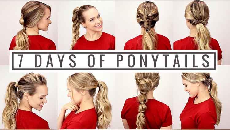 7 Days of Ponytails